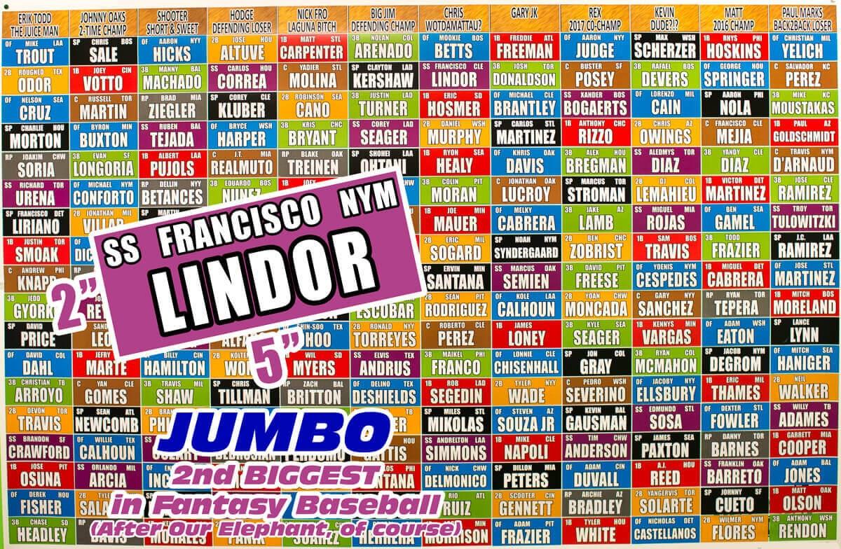 fantasy baseball draft board