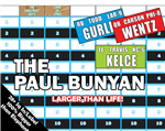 Paul Bunyan, Biggest Draft Board, Fantasy Football, huge, jumbo