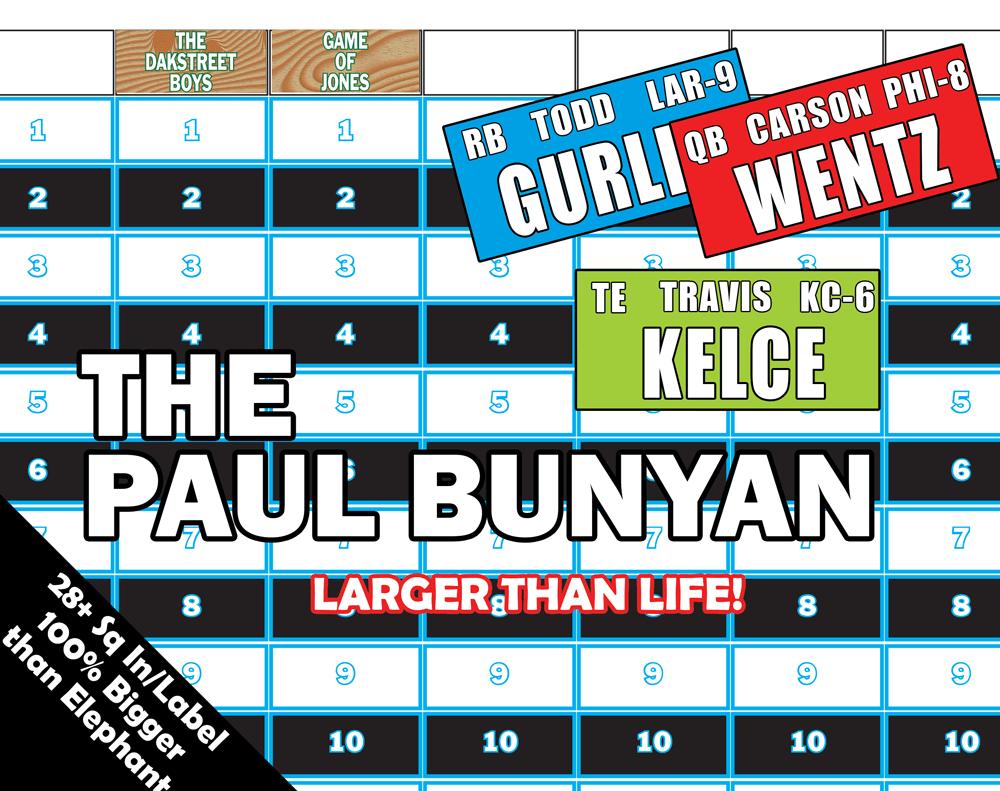 d5d11c7d3b1 Paul Bunyan Draft Board