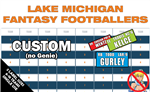 Custom Fantasy Football Draft Board