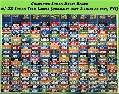 Jumbo Fantasy Football Draft Board