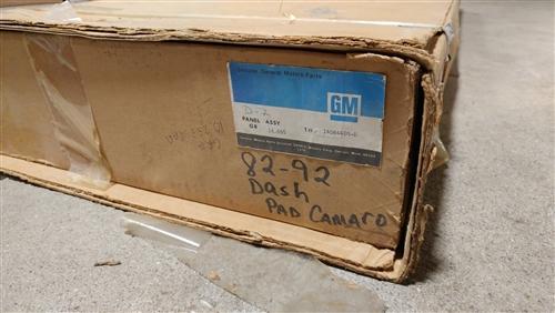 1982 - 1992 Camaro Dash Pad, Original GM NOS