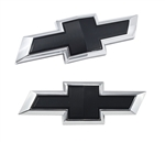 2016 - 2018 Camaro Front and Rear BLACK Bowtie Emblem Set, 2 Piece