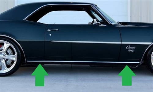 1967-69 FIREBIRD ROCKER PANEL LH 67-69 HARDTOP OUTER