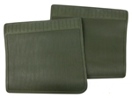 NOS Chevrolet Rear Contour Rubber Floor Mats, GM # 993671, Dark Green
