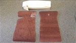 NOS GM Front Floor Mats, Dark Redwood