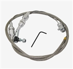"Braided Stainless Steel 24"" Accelerator Throttle Cable, Universal"