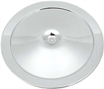 1967 - 1969 Camaro Factory Correct Chrome Air Cleaner Cover Lid with Silk Screened Service Instructions, Curved Design