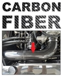 "Universal Real CARBON FIBER 4"" One Piece Seamless Cold Air Intake Tube / Pipe for LS Engines"