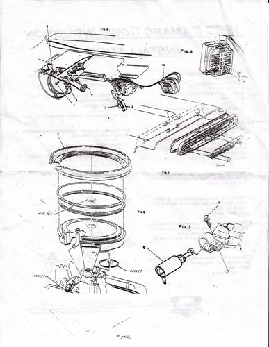 1969 Camaro Cowl Induction System Kit 302 Z28
