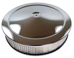 1967 - 1981 CHROME Air Cleaner Assembly, Open Element with Base, Chrome Lid and Filter