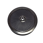 "Extraflow 14"" X 3"" Air Cleaner Assembly, BLACK Open Element with Breathe Thru Top, Washable Filter and Star Wingnut"