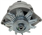 1961 - 1984 Chevy / GM 10DN Style Natural Finish NEW 100 Amp Alternator, 1 Wire or 3 Wire