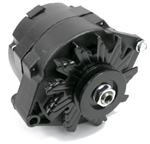 1967 - 1981 Camaro BLACK 100 Amp Alternator, 1 Wire or 3 Wire