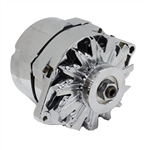 1967 - 1981 Camaro Chrome Alternator, 100 Amp, 1 Wire