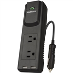 Duracell Power Strip Inverter with 2 USB and 2 AC Charging Ports, 175 Watt