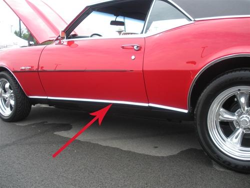 1967 67 Camaro RS Lower Rocker Panel Trim Molding Template