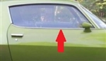 1970 - 1981 Camaro Top Door Chrome Molding, Right Hand