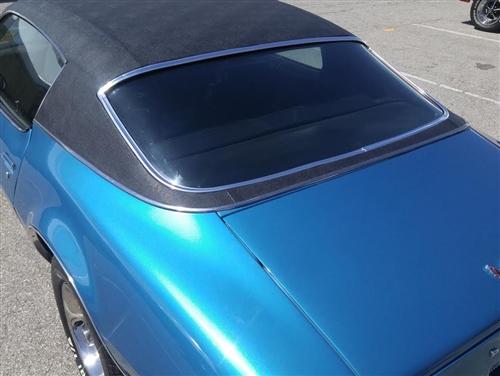 1970 1974 Camaro Vinyl Top Chrome Moldings Set Original