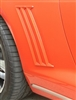 2010 - 2015 Quarter Panel Louvers, Retro Style, Raw and Paintable, Pair