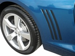 2010 - 2015 Quarter Panel Louvers (Insert Fillers), Black Acrylic, Peel and Stick, USA Made, Set of 6 (3 for Each Side)