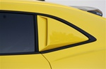 2010 - 2015 Quarter Window Louvers, Upper Side Scoop Covers, Primed and Paintable, Pair