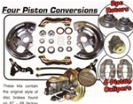 1967 - 1968 Camaro Brake Conversion Kit, Power Front Disc, OE Style with 4 Piston Calipers