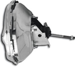 1967 - 1969 Power Brake Booster without Stamp, 11 Inch, Chrome