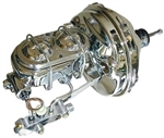 1967 - 1969 Camaro CHROME Power Brake Booster, Master Cylinder, Proportioning Valve Kit with Brackets and Lines: 11""
