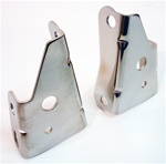 1967 - 1969 Power Brake Booster Angled Firewall Brackets, Pair in Stainless Steel