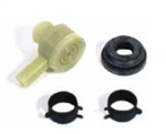 1967 - 1979 Chevy Camaro Power Brake Booster Check Valve, Grommet and Hose Clamps