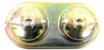 1967 - 1969 Camaro Brake Master Cylinder Cover, Drum Manual or Power, Original Correct Wording, Gold