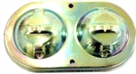 1968 - 1969 Brake Master Cylinder Cover, Power Disc, Original Style, Correct Wording