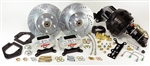 "1967 - 1969 Camaro Rallye Series 4 Piston Front Power Disc Brake Conversion Kit with 9"" Black Booster"