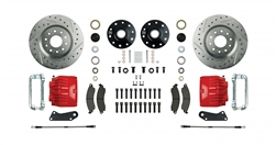 1967 - 1969 Brake Conversion Kit, Front Disc, Red Caliper, Signature Series