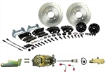 1967 - 1969 Brake Conversion Kit, Front Disc Manual, Black Calipers, Signature Series