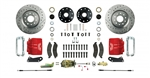 1967 - 1969 Brake Conversion Kit, Front Disc Manual, Red Calipers, Signature Series