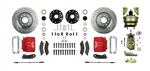 1967 - 1969 Brake Conversion Kit, Front Disc Power, Red Calipers, Signature Series