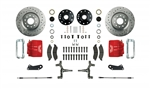 1967 - 1969 Brake Conversion Kit, Front Disc, Red Caliper, 2 Inch Drop, Signature Series