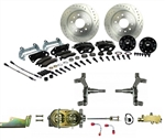 1967 - 1969 Brake Conversion Kit, Front Disc Manual, Black Caliper, 2 Inch Drop, Signature Series