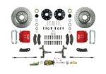1967 - 1969 Brake Conversion Kit, Front Disc Manual, Red Caliper, 2 Inch Drop, Signature Series