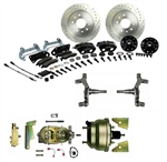 1967 - 1969 Brake Conversion Kit, Front Disc Power, Black Caliper, 2 Inch Drop, Signature Series
