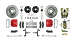 1967 - 1969 Brake Conversion Kit, Front Disc Power, Red Caliper, 2 Inch Drop, Signature Series