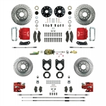 1967 - 1969 Brake Conversion Kit, All (Front and Rear Disc, Manual) for Non-Staggered Shocks, Red Calipers, Signature Series