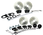 1967 - 1969 Brake Conversion Kit, All (Front and Rear Disc) for Stock Height Staggered Shocks, Black Calipers, Signature Series
