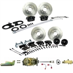 1967 - 1969 Brake Conversion Kit, All (Front and Rear Disc, Manual) for Stock Height Staggered Shocks, Black Calipers, Signature Series