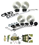 1967 - 1969 Brake Conversion Kit, All (Front and Rear Disc, Power) for Stock Height Staggered Shocks, Black Calipers, Signature Series