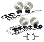 1967 - 1969 Brake Conversion Kit, All (Front and Rear Disc) for 2 Inch Drop Non-Staggered Shocks, Black Calipers, Signature Series