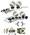1967 - 1969 Brake Conversion Kit, All (Front and Rear Disc, Power) for 2 Inch Drop Non-Staggered Shocks, Black Calipers, Signature Series