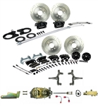 1967 - 1969 Brake Conversion Kit, All (Front and Rear Disc, Manual) for 2 Inch Drop Staggered Shocks, Black Calipers, Signature Series